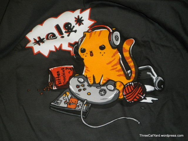 Woot Gamer Cat Shirt